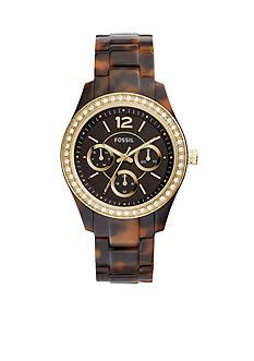Fossil Women's Stella Tortoise Bracelet Multifunction Glitz Watch
