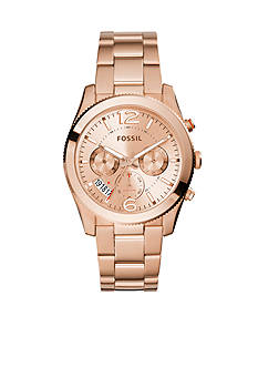Fossil Perfect Boyfriend Rose Gold-Tone Stainless Steel Multifunction Watch
