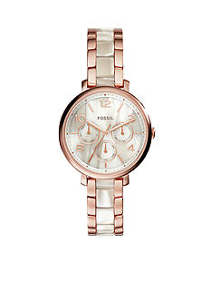 Fossil® Jacquline Shimmer Horn And Rose Gold-Tone Multi Function Watch