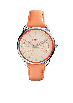 Fossil® Women's Tailor Coral Leather Multifunction Watch