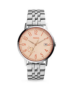 Fossil® Women's Vintage Muse Stainless Steel Bracelet with Tinted Crystal Three-Hand Watch
