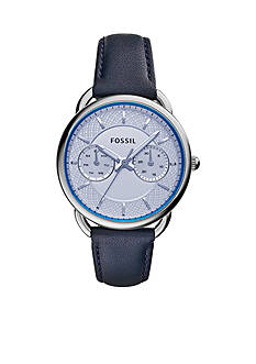 Fossil® Women's Tailor Blue Leather Multifunction Watch
