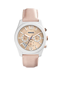 Fossil® Women's Perfect Boyfriend Sport Multifunction Blush Glaze Leather Watch