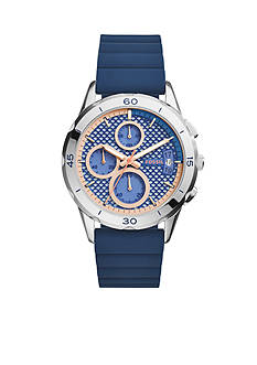 Fossil® Women's Modern Pursuit Blue Silicone Chronograph Watch