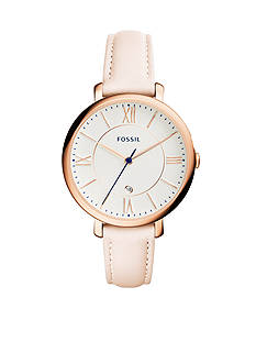 Fossil Women's Jaqueline Light Brown Leather Strap Three-Hand Watch