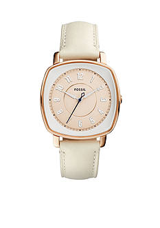 Fossil Women's Idealist White Leather Watch