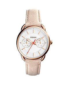 Fossil® Women's Tailor Sand Leather Three-Hand Watch