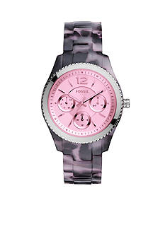 Fossil® Women's Stella Purple Tortoise Multifunction Watch