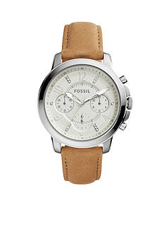 Fossil Women's Gwynn Chronograph Leather Watch