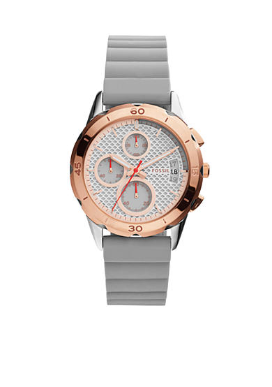 Fossil® Women's Modern Pursuit Iron Silicone Watch