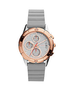 Fossil Women's Modern Pursuit Iron Silicone Watch