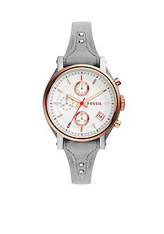 Fossil® Women's Original Boyfriend Sport Iron Leather Watch
