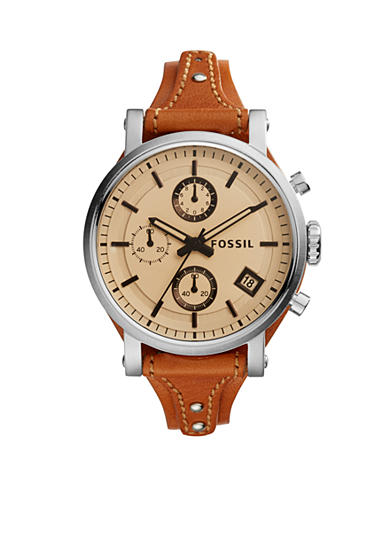 Fossil® Women's Original Boyfriend Sport Dark Brown Leather Watch