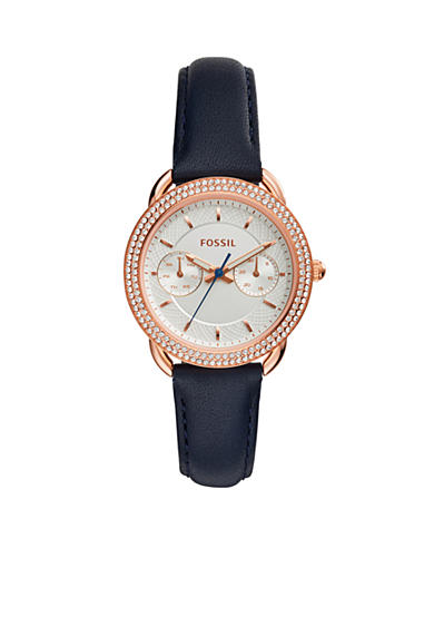 Fossil® Women's Tailor Multifunction Indigo-Dyed Leather Watch