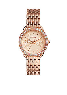 Fossil Women's Tailor Multifunction Rose Gold-Tone Stainless Steel Watch