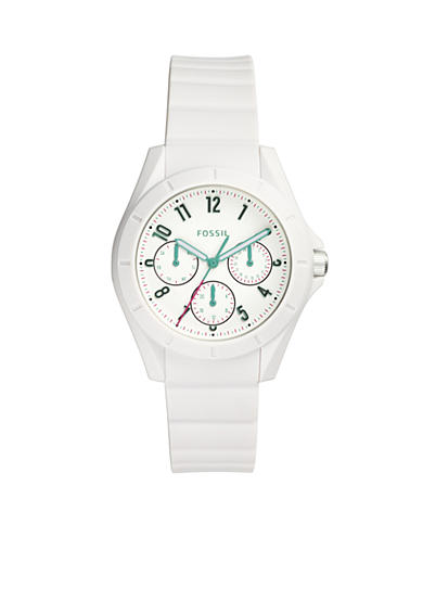 Fossil® Women's Poptastic White Silicone Watch