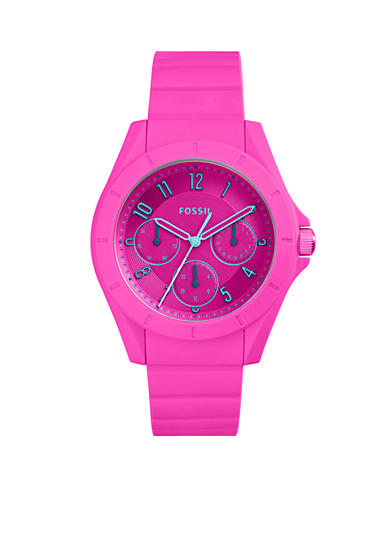 Fossil® Women's Poptastic Pink Silicone Watch