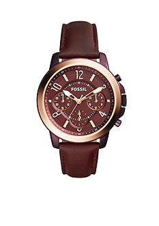 Fossil® Women's Gwynn Chronograph Wine Leather Watch