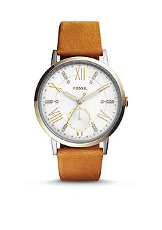 Fossil Women's Gazer Multi-Function Leather Watch