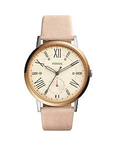 Fossil Women's Gazer Blush Leather Watch