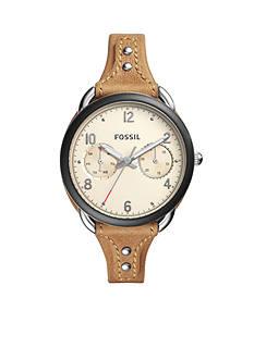 Fossil Women's Tailor Multifunction Tan Watch