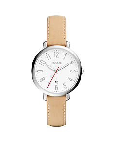 Fossil® Jacqueline Three-Hand Date Leather Watch