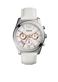 Fossil® Perfect Boyfriend Sport Multifunction Leather Watch