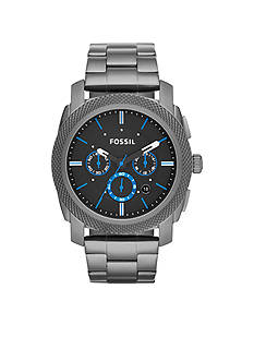 Fossil® Men's Smoke Stainless Steel Machine Chronograph Watch