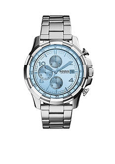 Fossil® Men's Dean Stainless Steel Bracelet Chronograph Watch