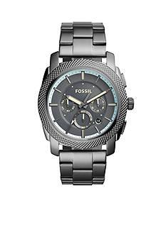 Fossil Men's Machine Chronograph Gunmetal Stainless Steel Watch