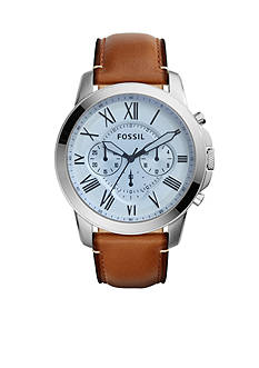 Fossil® Men's Grant Light Brown Chronograph Watch