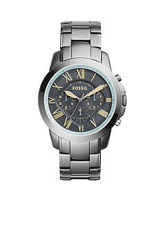 Fossil® Men's Grant Stainless Steel Gunmetal Watch