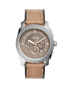 Fossil® Men's Machine Chronograph Leather Watch