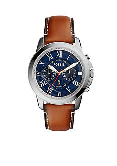 Fossil® Men's Grant Light Brown Leather Watch