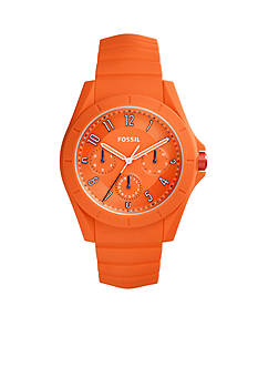 Fossil® Men's Poptastic Orange Silicone Watch