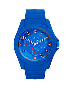 Fossil® Men's Poptastic Blue Silicone Watch