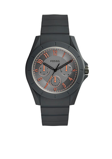Fossil® Mens's Poptastic Gray Silicone Watch