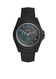 Fossil® Men's Poptastic Black Silicone Watch
