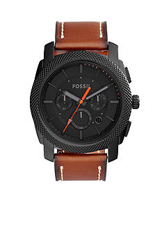 Fossil® Machine Chronograph Luggage Leather Watch