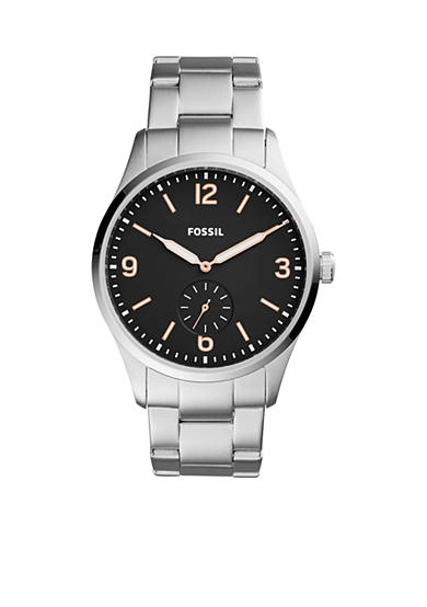 Fossil® Men's Vintage 54 Two-Hand Sub-Second Stainless Steel Watch