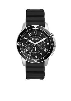 Fossil Men's Grant Sport Chronograph Black Silicone Watch