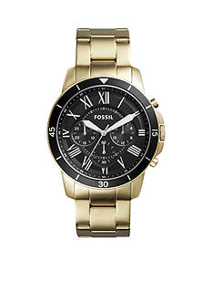 Fossil Grant Sport Chronograph Gold-Tone Stainless Steel Watch