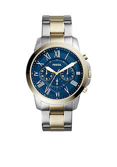 Fossil® Men's Grant Chronograph Two-Tone Stainless Steel Watch