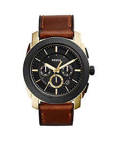 Fossil Machine Chronograph Leather Watch