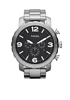 Fossil® Mens Silver-Tone Stainless Steel Gage Chronograph Watch