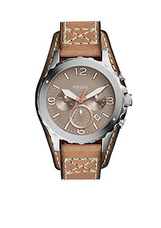 Fossil® Men's Nate Chronograph Leather Watch