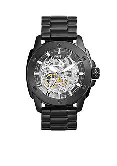Fossil® Modern Machin Black IP Stainless Steel Automatic Watch