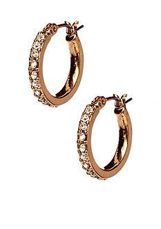 Anne Klein Small Crystal Hoop Earrings