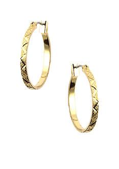 Anne Klein Small Gold Hoop Earrings