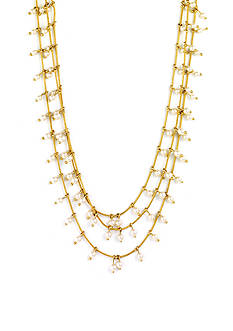 Anne Klein Gold-Tone Pearl Multistrand Necklace